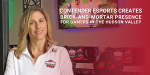Deanna Fino is the owner of Contender eSports in Wappingers Falls. Photo by Bob Rozycki